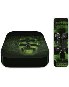 Green Skulls Apple TV Skin