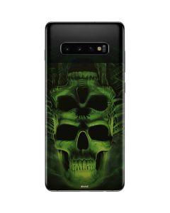 Green Skulls Galaxy S10 Plus Skin