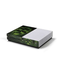Green Skulls Xbox One S Console Skin