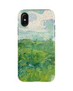 Green Wheat Fields by Vincent van Gogh iPhone X Pro Case