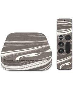 Grey Marble Apple TV Skin