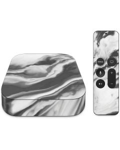 Grey Marble Ink Apple TV Skin