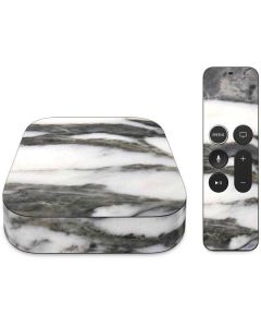 Grey Marbling Apple TV Skin
