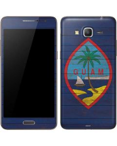 Guam Flag Dark Wood Galaxy Grand Prime Skin