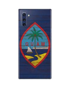 Guam Flag Dark Wood Galaxy Note 10 Skin
