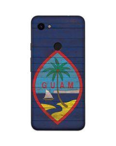 Guam Flag Dark Wood Google Pixel 3a Skin