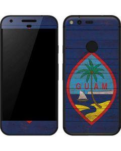 Guam Flag Dark Wood Google Pixel Skin
