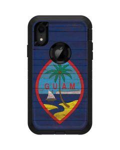 Guam Flag Dark Wood Otterbox Defender iPhone Skin