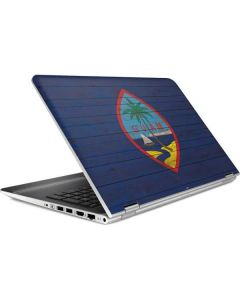 Guam Flag Dark Wood HP Pavilion Skin