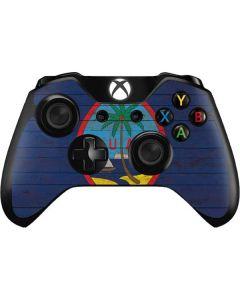 Guam Flag Dark Wood Xbox One Controller Skin