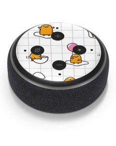 Gudetama Grid Pattern Amazon Echo Dot Skin