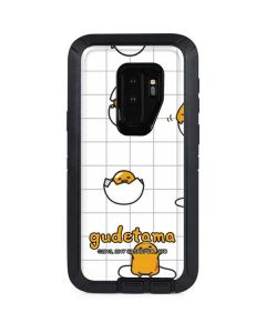 Gudetama Grid Pattern Otterbox Defender Galaxy Skin
