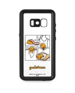 Gudetama Square Grid Galaxy S8 Waterproof Case