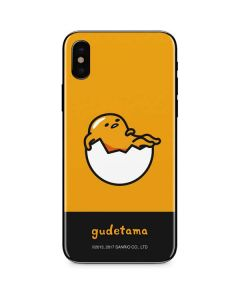 Gudetama Yellow Split iPhone XS Skin