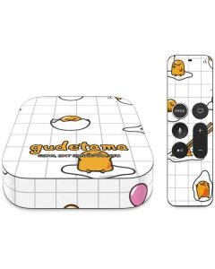 Gudetama Grid Pattern Apple TV Skin