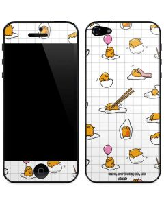 Gudetama Grid Pattern iPhone 5/5s/SE Skin