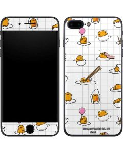 Gudetama Grid Pattern iPhone 8 Plus Skin