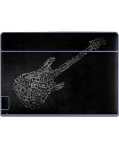 Guitar Pattern Galaxy Book Keyboard Folio 12in Skin
