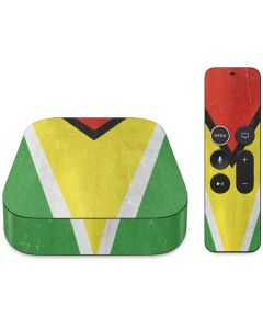 Guyana Flag Distressed Apple TV Skin