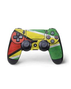 Guyana Flag Distressed PS4 Pro/Slim Controller Skin