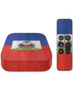 Haiti Flag Distressed Apple TV Skin