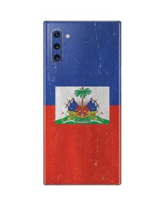 Haitian Flag Distressed Galaxy Note 10 Skin