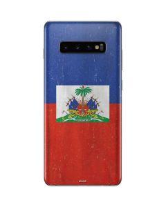 Haitian Flag Distressed Galaxy S10 Plus Skin