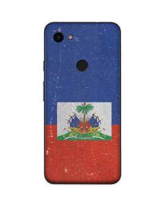 Haitian Flag Distressed Google Pixel 3a Skin