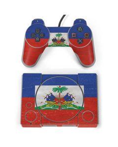 Haitian Flag Distressed PlayStation Classic Bundle Skin