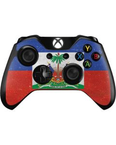 Haitian Flag Distressed Xbox One Controller Skin