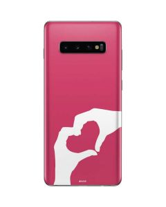 Hand Shaped Heart Galaxy S10 Plus Skin