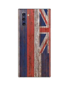 Hawaiian Flag Dark Wood Galaxy Note 10 Skin