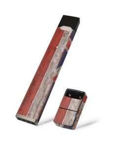 Hawaiian Flag Dark Wood Juul E-Cigarette Skin