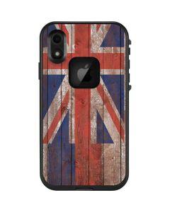 Hawaiian Flag Dark Wood LifeProof Fre iPhone Skin
