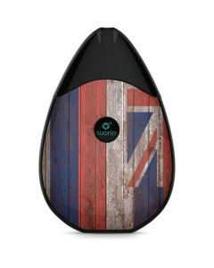 Hawaiian Flag Dark Wood Suorin Drop Vape Skin