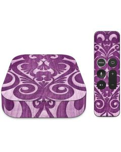 Heart Purple Apple TV Skin