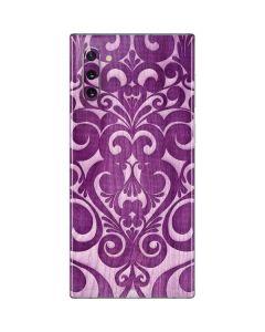 Heart Purple Galaxy Note 10 Skin