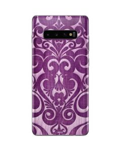 Heart Purple Galaxy S10 Plus Skin