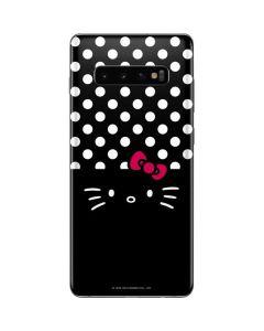 Hello Kitty Black Galaxy S10 Plus Skin