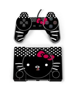 Hello Kitty Black PlayStation Classic Bundle Skin