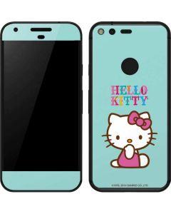 Hello Kitty Blue Background Google Pixel Skin