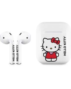 Hello Kitty Classic White Apple AirPods Skin