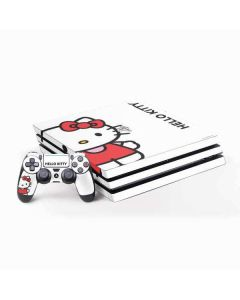 Hello Kitty Classic White PS4 Pro Bundle Skin
