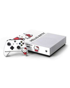 Hello Kitty Classic White Xbox One S Console and Controller Bundle Skin