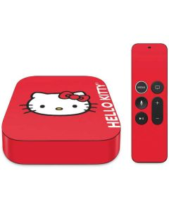 Hello Kitty Cropped Face Red Apple TV Skin
