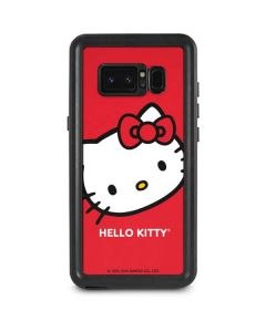 Hello Kitty Cropped Face Red Galaxy Note 8 Waterproof Case