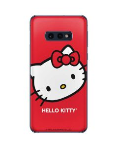 Hello Kitty Cropped Face Red Galaxy S10e Skin
