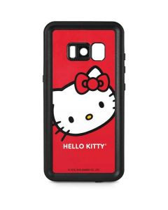 Hello Kitty Cropped Face Red Galaxy S8 Waterproof Case