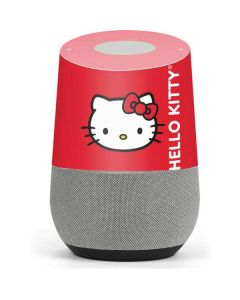 Hello Kitty Cropped Face Red Google Home Skin