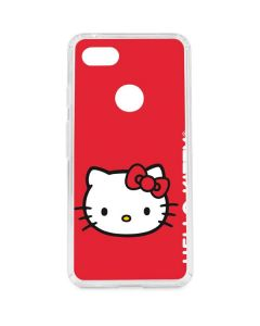 Hello Kitty Cropped Face Red Google Pixel 3 XL Clear Case